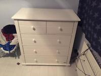 Ex John Lewis chest of drawers with baby changer top unit