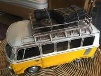 Yellow camper van model