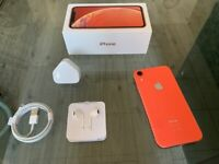 Coral Apple Iphone XR 128GB Factory Unlocked To All Networks + Warranty