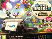 WiiU console with lots of extras