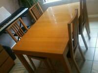 Kitchen table and dinning chairs