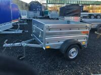 BRAND NEW MODEL 5x4 SINGLE AXLE DOUBLE BROADSIDE TRAILER