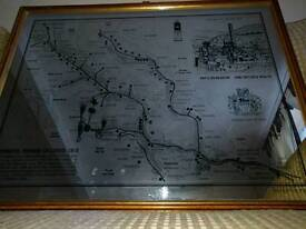 A mirror with a map of rhondda mines