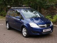 EXCELLENT 7 SEATER!! 2009 VAUXHALL ZAFIRA 1.6 16V EXCLUSIV 5dr, LONG MOT, WARRANTY