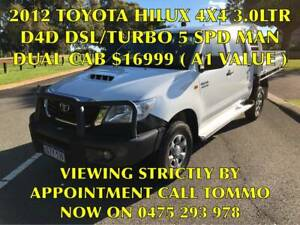 2012 TOYOTA HILUX 3.0LTR D4D DIESEL TURBO 5 SPD D/CAB ( 4x4 ) Bayswater Bayswater Area Preview