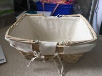 Small wicker basket with handles ideal for wedding