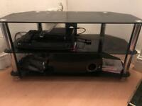 Tv stand holds tv 50 inch