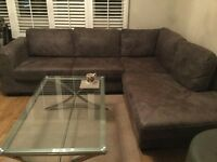 John Lewis leather corner sofa 18 months old VGC cost £2200