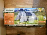 5 Man Tent with Awning used once (3 days)