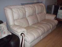 Cream 3 seat Sofa ~ Large
