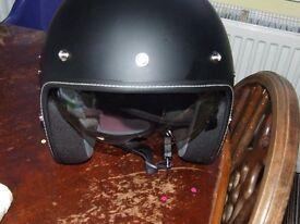 Brand new motorcycle helmet.