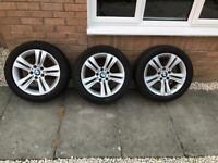 3x BMW 3 series 17 inch alloys wheels