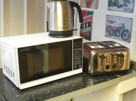 Brand New Sharp R272WM Microwave LOGIK L04TR14 Toaster Russell Hobbs 20070 Kettle Package RRP £133