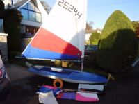 Topper sailing Dinghy for sale Sail no 25244, good club boat / racer