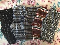 SIZE 12 Women's leggings x5