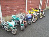 Wanted Mini motos Pitbikes quads