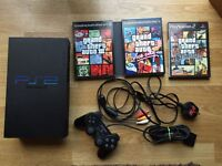 Sony PlayStation 2 console, grand theft auto games. Ps2
