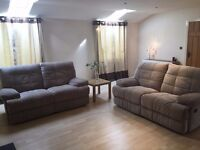 Two 2/3 Seater Double Recliner Sofology Veyron Sofa RRP £1330