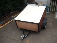 Trailer 4 x 3 with Lid...Lightweight...Tip Legal