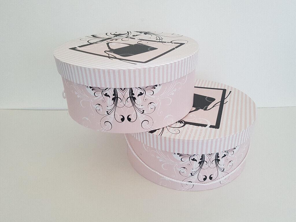2x Tk Maxx Large Hat Bag Box In Pink Boxes Round Box 36x19cm Like Ne In Kirkcaldy Fife Gumtree