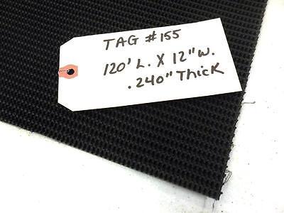 Unknown Brand Conveyor Belt 120 L. 12 W. .240 Thick Black Pvc Rough Top