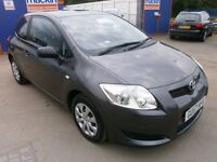 2007 TOYOTA AURIS 1.4 VVT T2 3DOOR HATCHBACK, FULL SERVICE HISTORY, HPI CLEAR, DRIVES LIKE NEW