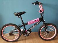 Girls BMX bike, 18 inch