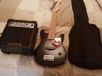Kids Elevation electric guitar, amp, bag