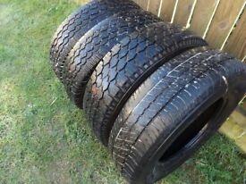 195/80/15 x4 all have loads of tread left chunky tyres