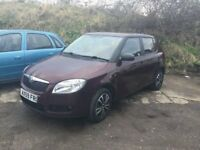 2010 SKODA FABIA 1 HTP 60 5 DOOR HATCHBACK VERY LOW MILEAGE AIR BAGS HAVE COME OUT SPARES OR REPAIR