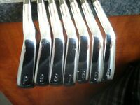 rare cleveland 588 cb forged irons with superb steelfiber shafts may swap / px
