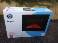 Black Glass Front Electric Fire Unused in Box