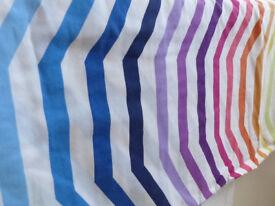 Multi-coloured striped duvet cover