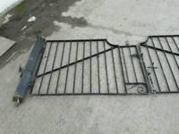 Metal steel wrought iron gate drive gates