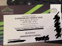 Selling G-Dragon London Concert Ticket *URGENT*