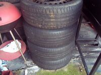 """Ford Focus Mondeo C-Max 5 stud 16"""" steel wheels with tyres"""