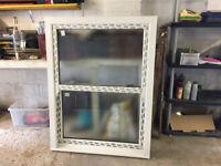 NEW UPVC EUROCELL VERTICAL BOX/SASH 1110MM W X 1450 MM H & BAY WINDOW 2610MM WIDE x 1600MM INC SILL