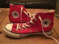 Red High tops converse.size 5 hardly worn. £15