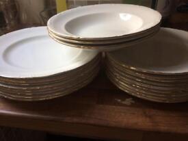 Vintage plate set approx 30+peices