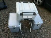 Aluminium panniers,top box,hepco decker gobi,suzuki dl1000v vstrom klv1000