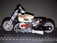 3x Lego Racers Motorcycles (8354, 8370, 8371)