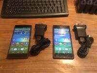 X2 Sony Xperia Z3 gold 16GB unlocked! Very good condition with chargers x