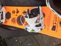 Snowboarding Package: Board, Boots, Bindings, Bag, Stomp-Pad, Saloppettes, Jacket!