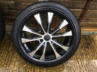 "18"" diamond alloy wheels good used condition (bargain)"