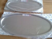 Stainless Steel Serving Plates - brand new