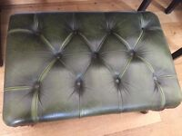 Green captains chair with matching stool