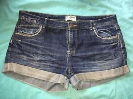 Miss Selfridge Worn Denim Jeans