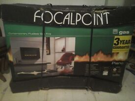 Focal point piano flueless Gas fire (new in box)