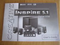 Creative Inspire 5.1 Digital 5700 Multimedia Speaker System for Home Cinema/PC/Games Console/TV/DVD