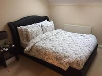 Black double bed ( not including mattress )